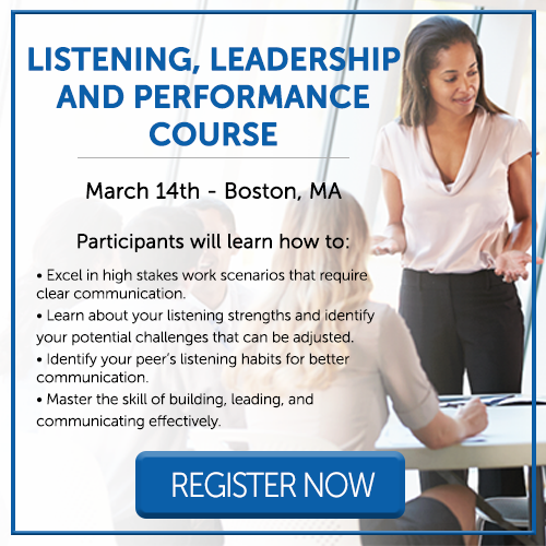Listening, Leadership and Performance Course